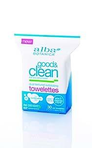 Alba Botanica Good & Clean Dual Textured Exfoliating Towelettes, 30 Count