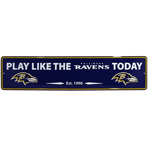 NFL Baltimore Ravens Street Sign Wall Plaque, 20