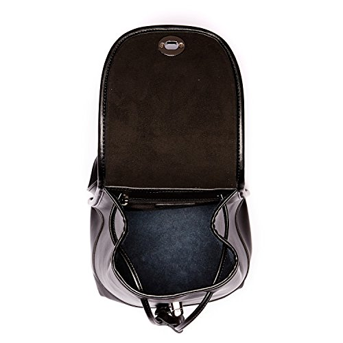 Backpacks Womens SUSU Rucksack Designer Leather Black Small The Nicole Purse qvvwCZ4