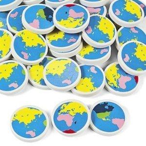 Globe Earth Erasers (4 dz)