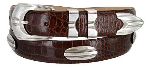 - 81208143 Men's Italian Calfskin Designer Golf Dress Belt (ABRN,50)