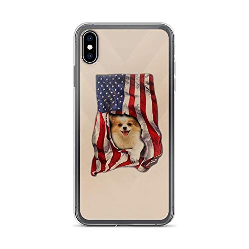iPhone Xs Max Pure Clear Case Cases Cover Chihuahua Colorful Firework American Flag Cute Animal Happy Independence Day 4th of July