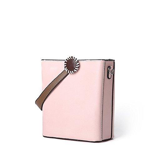 Messenger Color Pink Pink Casual FangYOU1314 Shoulder Bag Box Hit Hand Color qSRwXP