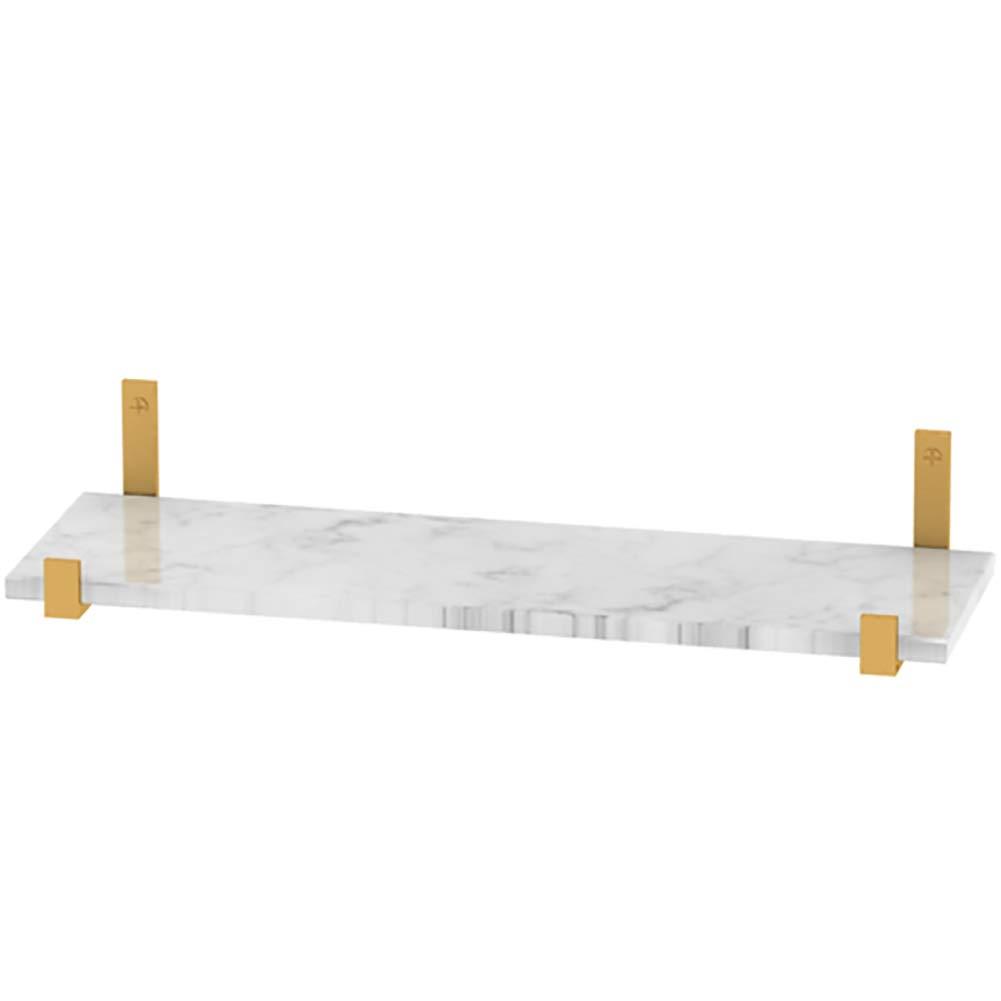 GUOWEI ウォールシェルフ 棚 ストレージ リビングルーム ディスプレイ 主催者 石 華やかで、 3サイズ (色 : Gray, サイズ さいず : 80x20cm) 80x20cm Gray B07JLPNGDT