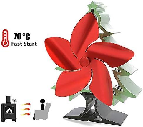 5ブレード熱ファン、小型で静かな環境に優しいガス暖炉ファン暖炉ストーブ用の効率的な熱分布熱ファン