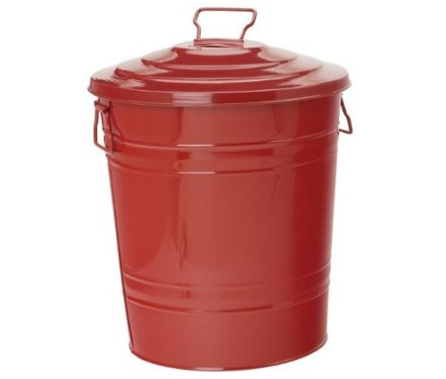 Houston International 5802E XR Steel 16-Gallon Storage Container, Red