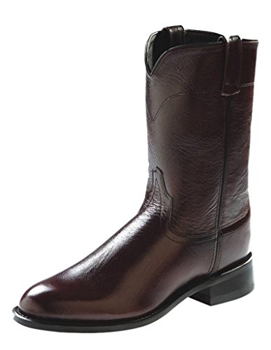 Old West Men's Leather Roper Cowboy Boot - Srm4051