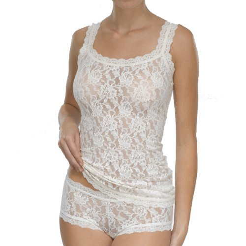 Classic Lace Camisole (Hanky Panky Women's Signature Lace Classic Camisole Ivory Medium)