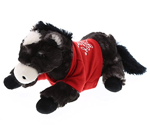 DolliBu Lying Black Horse I Love You Valentines Stuffed Anim