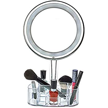 Amazon Com Daisi Magnifying Lighted Makeup Mirror With