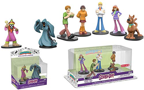 Funko Scooby Dooby Doo HeroWorld 5-Pack Figure Exclusive Mystery Solving Crew Collectibles Scooby Doo Hero World Series 5 Witch Doctor Velma, Scooby-Doo, Fred, Shaggy, and Daphne Character Set