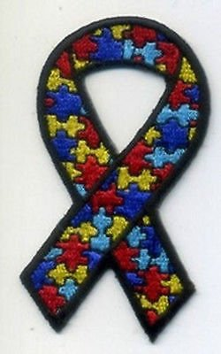 """Autism Awareness 3"""" Motorcycle Embroidered New MC Club Biker"""