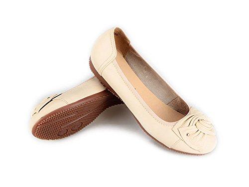 Bumud Womens Flexible Ballet Flats Comfortable Lady Elastic Ballerina Shoes Beige y0rPWvy