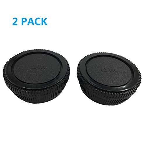 LXH 2 PACK BC-2 Camera Front Body Cap & Rear Lens Cap for Olympus OM Mount Fit OM-1, OM-2, OM-3, OM-4, OM-10, OM-20, OM-30, OM-40, OM-G cameras and OM lens systems