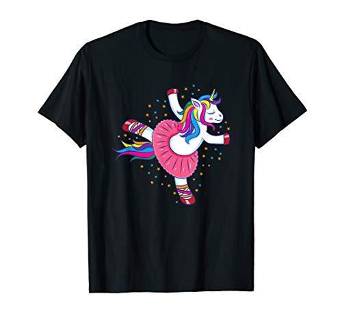 Dancing Ballerina Unicorn T-Shirt Ballet Gift Girls Women