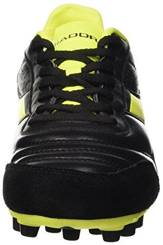 Diadora Brasil Lt Mdpu25, Botas de Fútbol para Hombre Nero (Nero/Giallo Fluo Diadora)