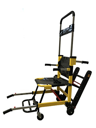 LINE2design Medical Evacuation Stair Chair - Premium Emergency Transport Manual Track Stair Chair - Yellow | Load Capacity: 400 lbs