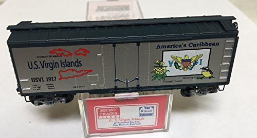 Virgin Trains (MTL Micro Trains N Scale US Virgin Islands Boxcar - N Scale Collector SPECIAL RUN)