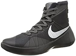Nike Mens Hyperdunk 2015 Blackmetallic Silver Basketball Shoe 9 Men Us
