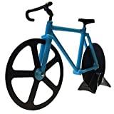 Bicycle Pizza Cutter Kitchen Gadget - Blue and Black