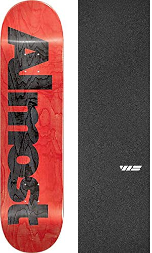 (Almost Skateboards Ultimate Red Skateboard Deck Resin-7-8.25