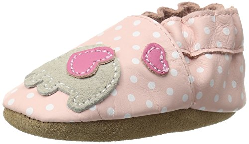 Robeez Little Peanut Crib Shoe (Infant/Toddler),Pastel Pink,6-12 Months M US Infant (Applique Baby Booties)