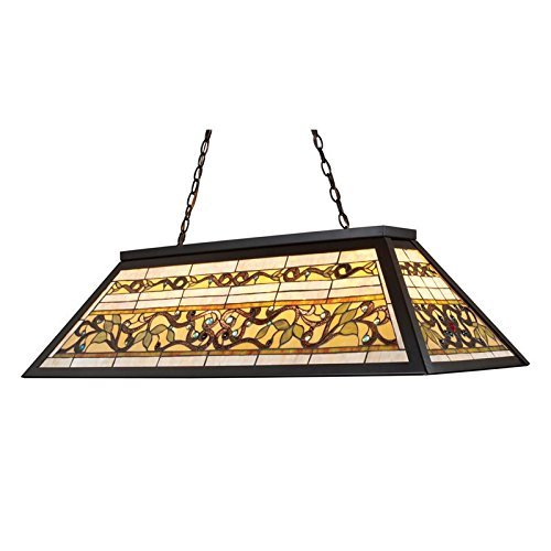 Elk 70023-4 Tiffany Game Room-Lighting 4-Light Billiard Light, 18-Inch, Tiffany Bronze Metal Buckingham Ceiling Lighting