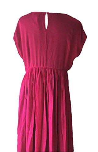 Cocktail Boden Robe Ornée De Pierres Précieuses Georgette Taille Rose Magenta Nous 18 L
