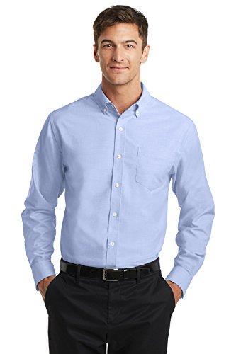 Price comparison product image Port Authority Men's SuperPro Oxford Shirt XL Oxford Blue