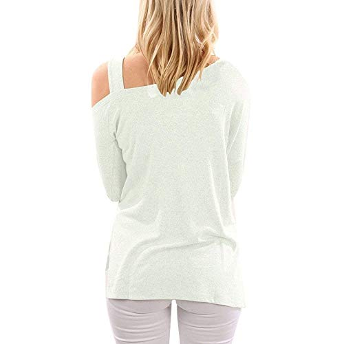 Manica Autunno Slim Camicia Fit Camicetta Colore Tops Donna Mode Elegante off Puro Blusa Primaverile Lunga Marca Bianco Lunga Shirts di Beige Shoulder Libero Accogliente Tempo tfadxRdwqZ