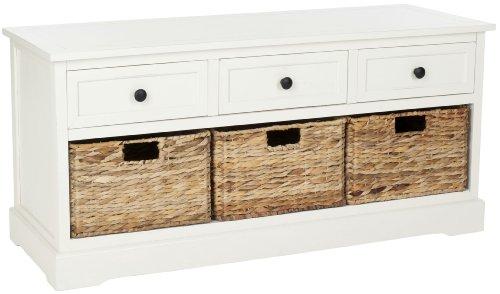 Safavieh American Home Collection Newburgh 3-Drawer Storage Unit, Distressed Cream