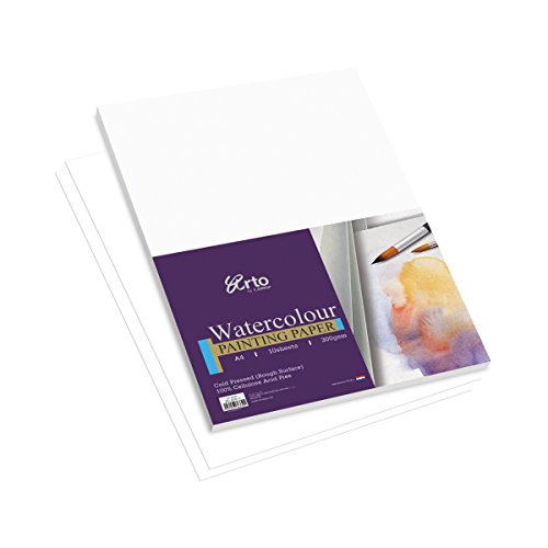 Campap ARTO Watercolor painting paper pack  100% cellulose    10 sheets   A4 size   300 gsm