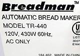 Breadman Model TR440 Kneading Paddle [See