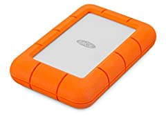 Travel with capacity of 4TB in an ultra compact portable hard drive—LaCie Rugged Mini. Seamlessly connect to USB 3.0 computers, transfer content fast with speeds of up to 130MB/s, and trek confidently with all terrain durability of drop, crus...