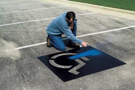 6 Piece Parking Lot Stencil Kits - 6 piece parking lot stencil kit