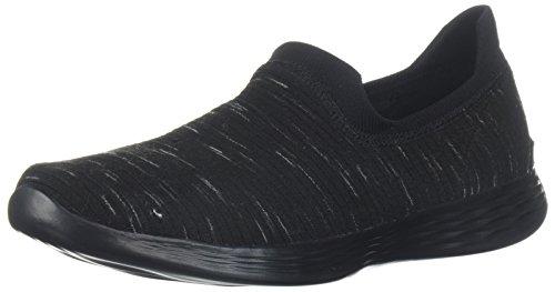 Skechers Womens You Zen Wide Sneaker Black
