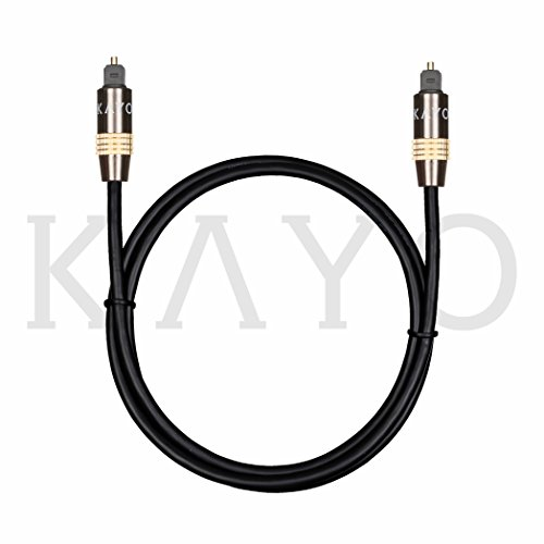 optical digital audio toslink cable home theater kayo fiber optic toslink male to male gold