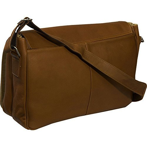 Piel Leather - Carrying Case (Messenger) for Document - Chocolate by Piel Leather
