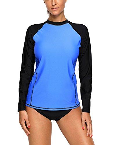 FARYSAYS Women's Long Sleeve Rashguard Swimwear UPF 50+ Rash Guard Swim Rash...
