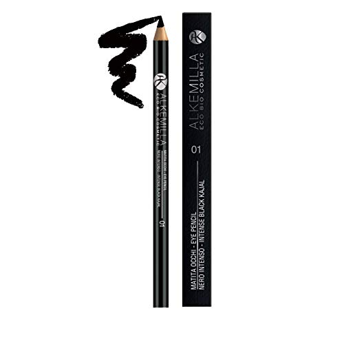ALKEMILLA - Ecobio Eye Pencil - Intense Black 01 - Ophthalmologically Tested - Indicated for Sensitive Eyes - High pigmentation - Precise Mark - High blendability - Long Lasting - 1.50 gr Yumi Bio Shop