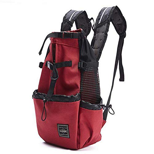 Dog Carrier Bag Pet Shoulder Traveler Backpack Dog Outcrop Bags Ventilation Breathable Washable Outdoor Backpack,Red,S (Best Careers For Travelers)