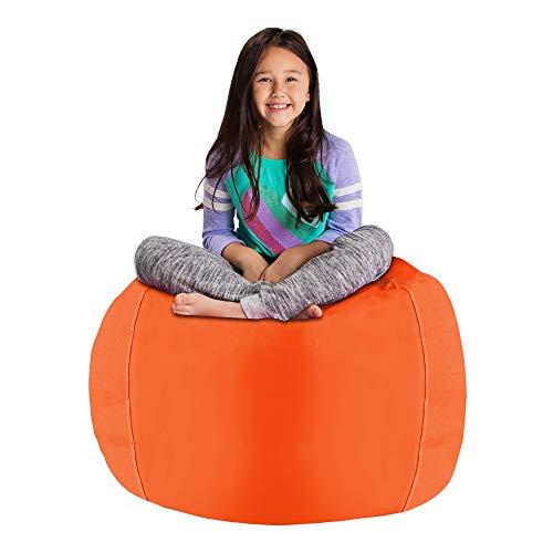 - Posh Stuffable AMZST-BLG-SOL-ORA Kids Stuffed Animal Storage Bean Bag Chair Cover - Childrens Toy Organizer, Large-38in, Solid Orange