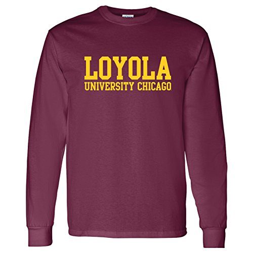AL01 - Loyola University Chicago Ramblers Basic Block Long Sleeve - Large - Maroon