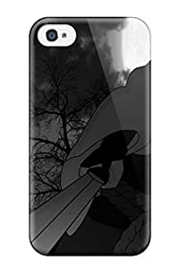 High Quality Shock Absorbing Case For Iphone 4/4s-sasuke Black And White