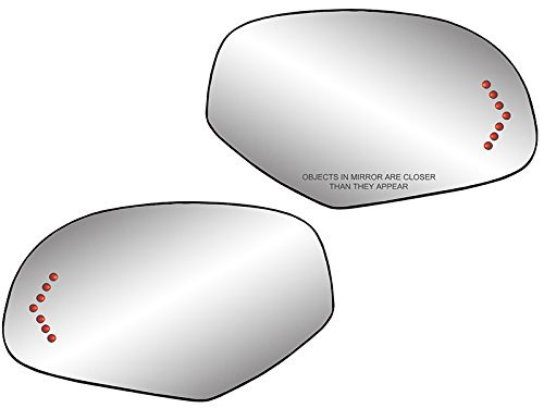 Replacement For Mirror Glass W//Backing for GMC Sierra Yukon XL Escalade 07-13 Power Heated LED Signal Pair