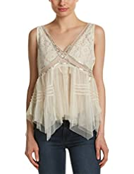 Free People Womens On The Town Lace Tulle Tank Top