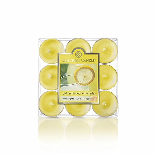 Old Fashioned Lemonade 9-Pack Tealights Colonial Candle