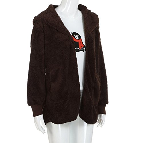 Larga Suéter Ropa Ropa Suelta Mujer Tops abrigo Baratas Café Invierno Piel Manga de youth® K sintética 5AYqIxwTWn