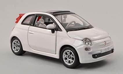 Amazon Com Fiat 500c Cabriolet White Canopy Open Model Car