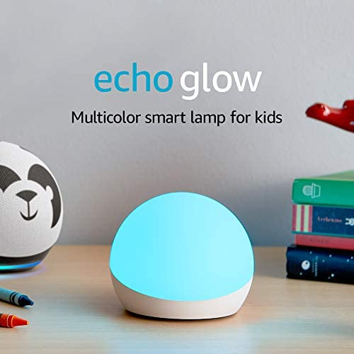 Echo Glow - Multicolor sensible lamp for children, a Certified for Humans Device – Requires appropriate Alexa software